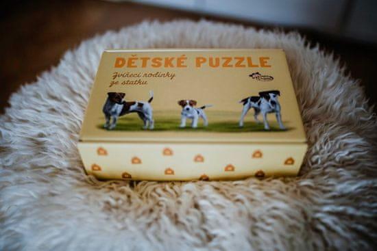 Chytrá opička Dětské puzzle trio puzzle - Chytrá opička - Zvířátka ze statku