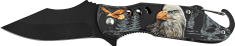 Ausonia zložljiv nož, z aluminijastim ročajem, motiv orla (26384)