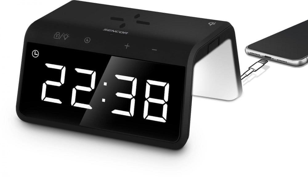 SENCOR SDC 7900 Qi hodiny s nabíječkou