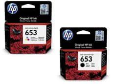HP 653 černá + barevná (3YM75AE + 3YM74AE)