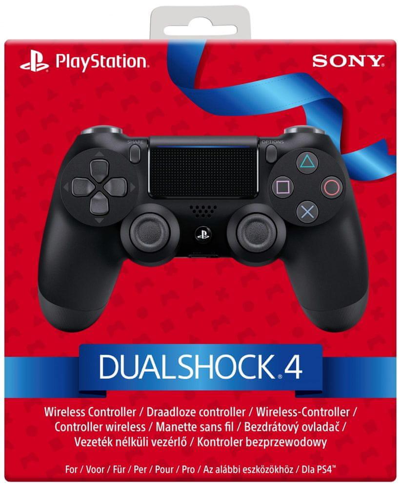 Sony PS4 Dualshock 4 black V2, Vánoční balení (PS719861027)