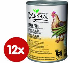 BEYOND Beyond Grain Free kúsky v paštéte bohaté na kurča so zelenými fazuľkami 12x400 g