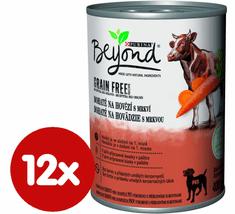 BEYOND Beyond Grain Free kúsky v paštéte bohaté na hovädzie s mrkvou 12x400 g
