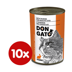 Dibaq Don Gato konzerva za mačke z zajcem, 10x 415 g