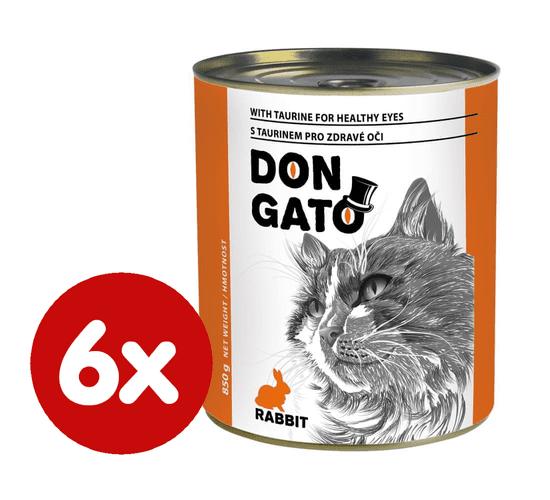Dibaq konzerva za mačke DON GATO, zečetinom, 10x 415 g