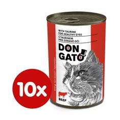 Dibaq Don Gato konzerva za mačke z govedino, 10x 415 g
