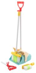 Teddies otroški komplet za čiščenje z metlo in smetišnico, 7-delni