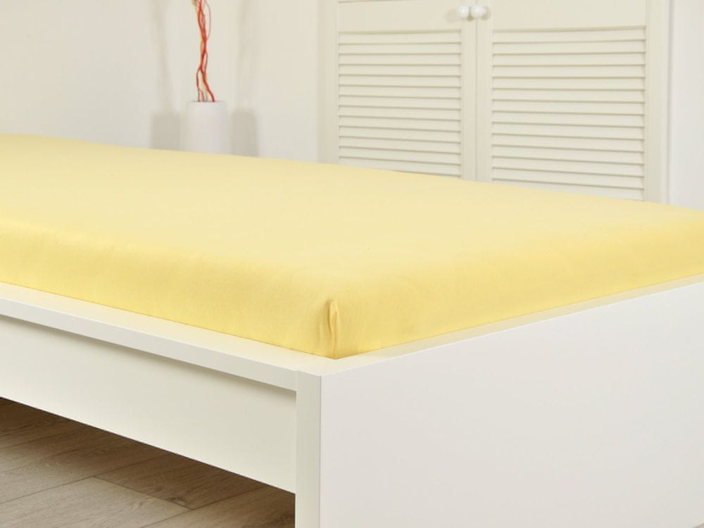 B.E.S. Petrovice Prostěradlo Jersey bavlna IDEAL 180x200 žlutá