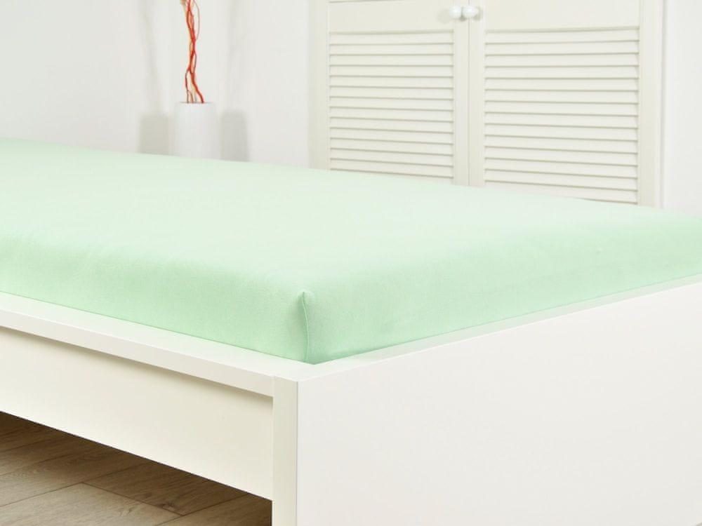 B.E.S. Petrovice Prostěradlo Jersey bavlna IDEAL 180x200 světlá zelená