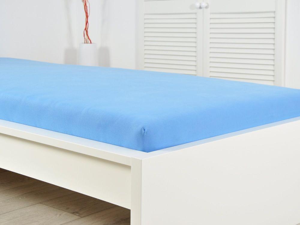B.E.S. Petrovice Prostěradlo Jersey bavlna IDEAL 180x200 nebeská modrá