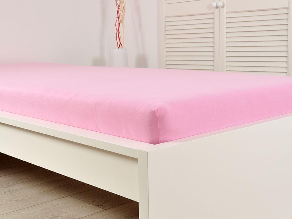B.E.S. Petrovice Prostěradlo Jersey bavlna IDEAL 180x200 růžová