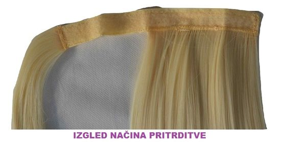 Vipbejba Sintetični čop na trak/pramen, izredno skodran, medeno blond z blond konicami F23