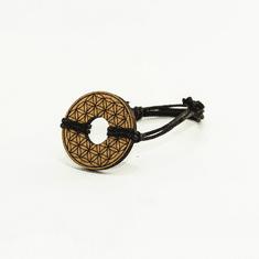 Woodly Lesen nakit - Zapestnica | Roža življenja češnja