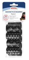vrečke za pasje iztrebke,9x 20 vrečk, 27,5 x 30,5 cm, z vzorcem, črne