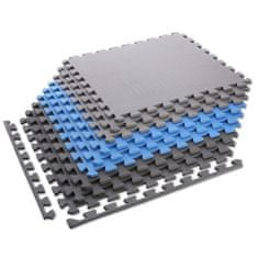 ONE Fitness ochranná puzzle podložka MP10 modro-sivá