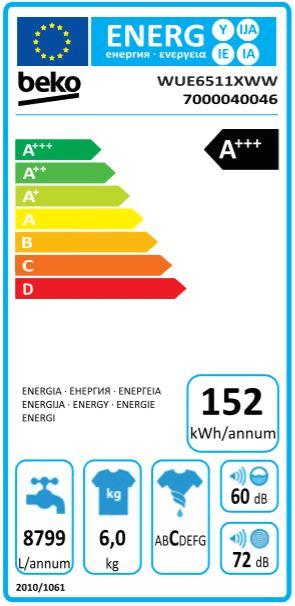 Beko pračka WUE6511XWW - použité