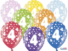 SELIS baloni 4 leta, 30 cm, 6 kosov