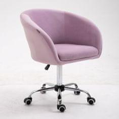 pisarniški stol Amadea, svetlo roza