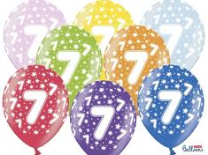 SELIS baloni 7 let, 30 cm, 6 kosov