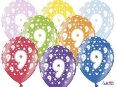 SELIS baloni 9 let, 30 cm, 6 kosov