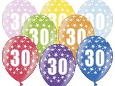 SELIS baloni 30 let, 30 cm, 6 kosov