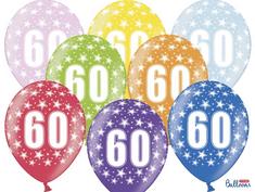 SELIS baloni 60 let, 30 cm, 6 kosov