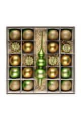 Nastrom Sada sklenených vianočných ozdôb eklektik 1