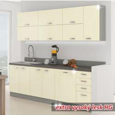 KONDELA Prado 260 kuchyňa krémová