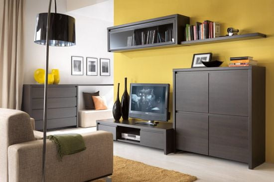 Black Red White Kaspian RTV2S tv stolík wenge