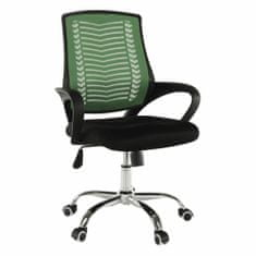 TEMPO KONDELA Imela Typ 2 kancelárske kreslo s podrúčkami zelená / čierna / chróm