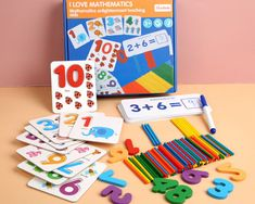 Otroška matematična Montessori Večnamenska igra