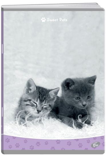 Elisa bilježnica Sweet pets, A5, linije, 52 lista, 10/1