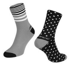 Force Cyklistické ponožky Spot - černo-šedé, S-M