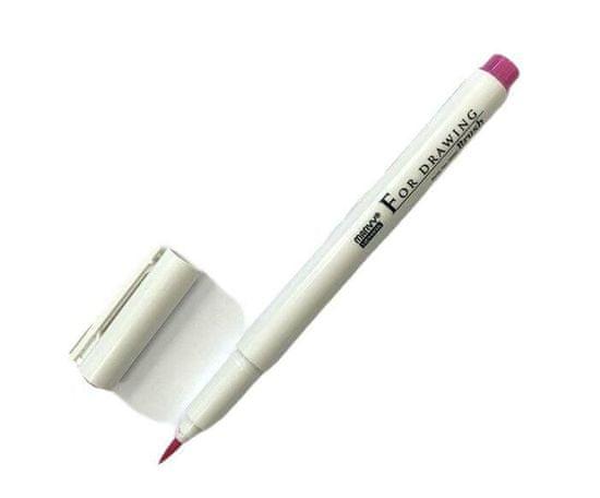 Marvy Technický popisovač (1ks) růžový štětcový (brush),