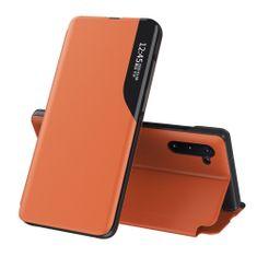 MG Eco Leather View knjižni ovitek za Huawei P40, oranžna