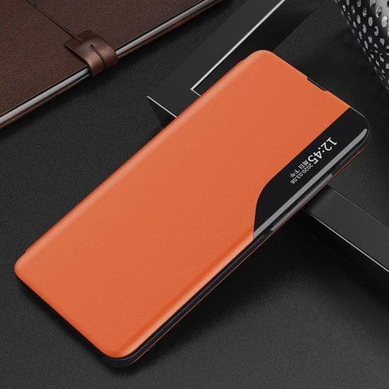 MG Eco Leather View knjižni ovitek za Samsung Galaxy A71, oranžna