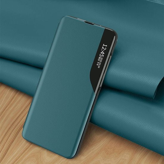 MG Eco Leather View könyvtok Samsung Galaxy A50, fekete