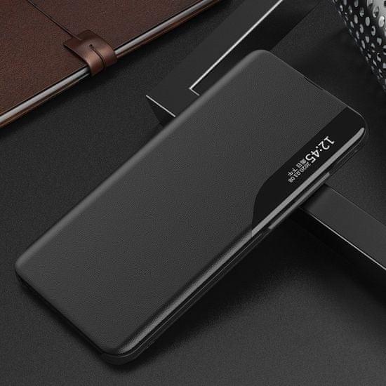 MG Eco Leather View knjižni ovitek za Huawei P Smart 2019, črna