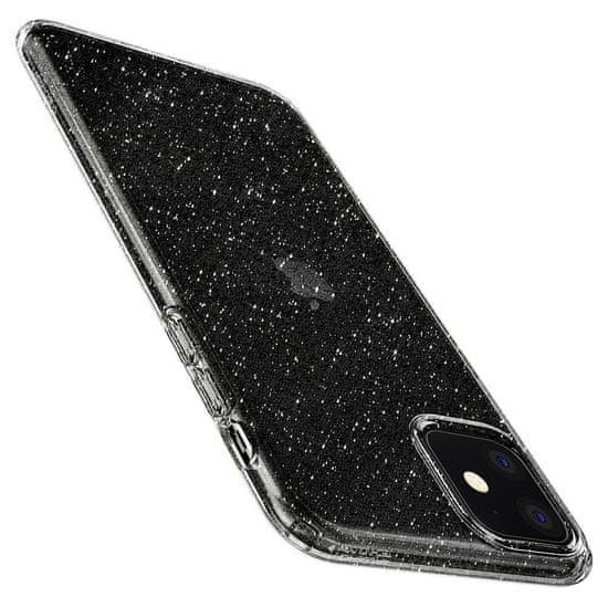 Spigen Liquid Crystal silikónový kryt na iPhone 11, priesvitný/glitter