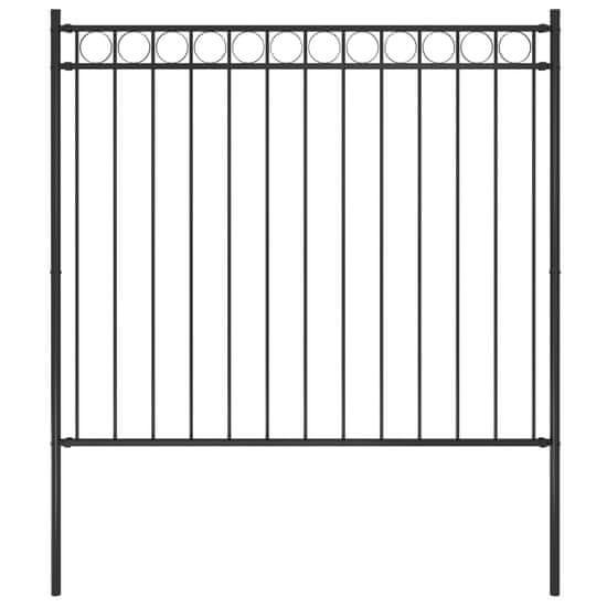 shumee Vrtna ograja jeklo 1,7x1,5 m črna