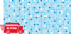 CronaPlast PVC 3D obklad - Mozaika modrá