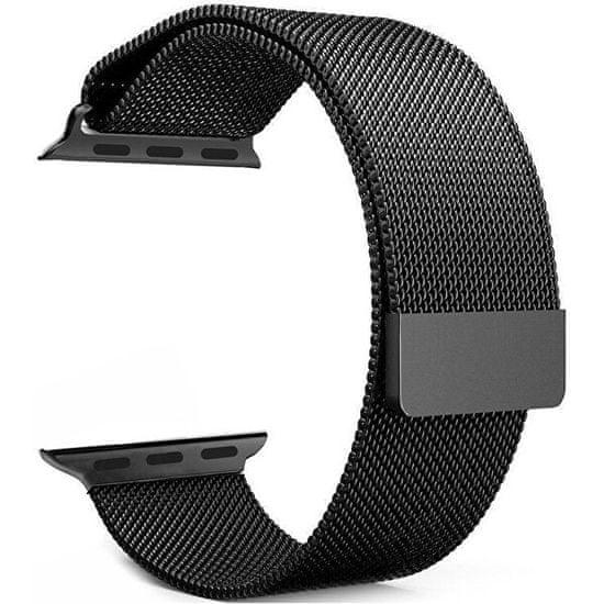 4wrist Ocelový milánský tah pro Apple Watch - Černý 42/44 mm