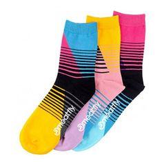 MEATFLY 3 PACK - zokni Color Scale socks - S19 Multipack (Méret 40-43)