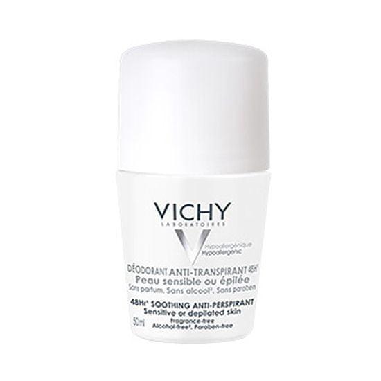 Vichy 48-urni dezodorant-antiperspirant za občutljivo ali depilirano kožo (Soothing Anti-Perspirant) 50 ml