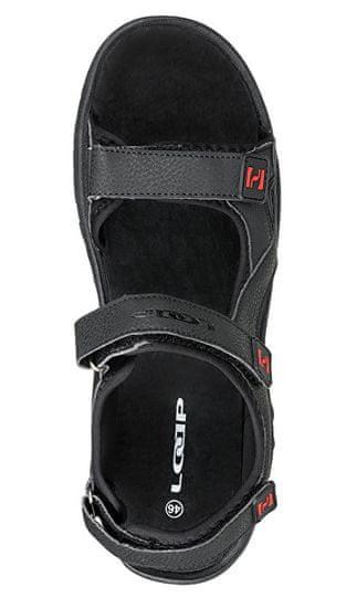 Loap Moški sandali Reul Black / Chili Pepper SSM1845-V11G