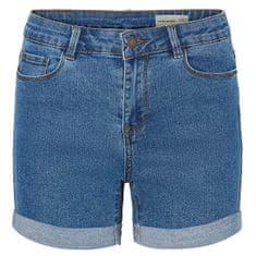 Vero Moda Női rövidnadrág Short Hot Seven Dnm Short a Noos közepes Blue Denim keverékével (méret XS)