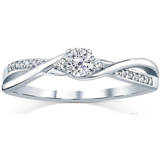 Silvego Stříbrný prsten s krystaly Swarovski FNJR085sw stříbro 925/1000