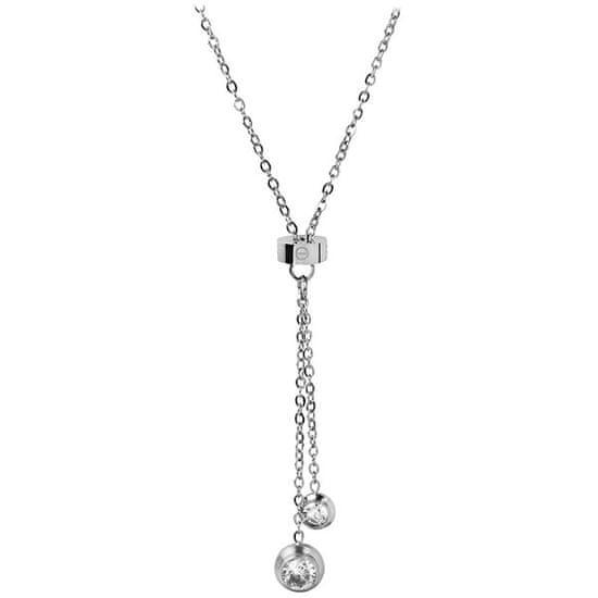 Troli Jeklena ogrlica s kristali