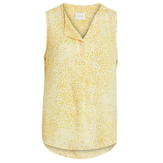 VILA Damska bluzka Lucy S / L Top-Fav Lux Gold zięba