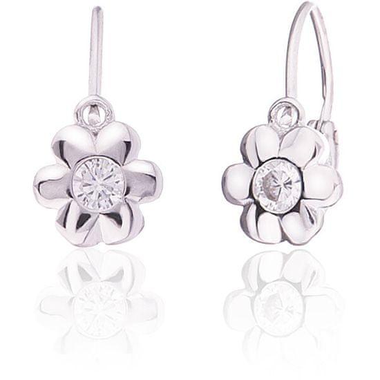 JVD Otroški srebrni uhani iz cvetja SVLE0225XD5BI00